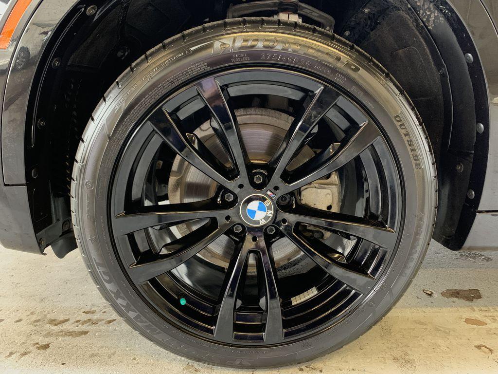 BLACK 2018 BMW X6 xDrive35i Sports Activity Coupe -  NAV, Red Leather, Memory Seat Left Front Rim and Tire Photo in Edmonton AB