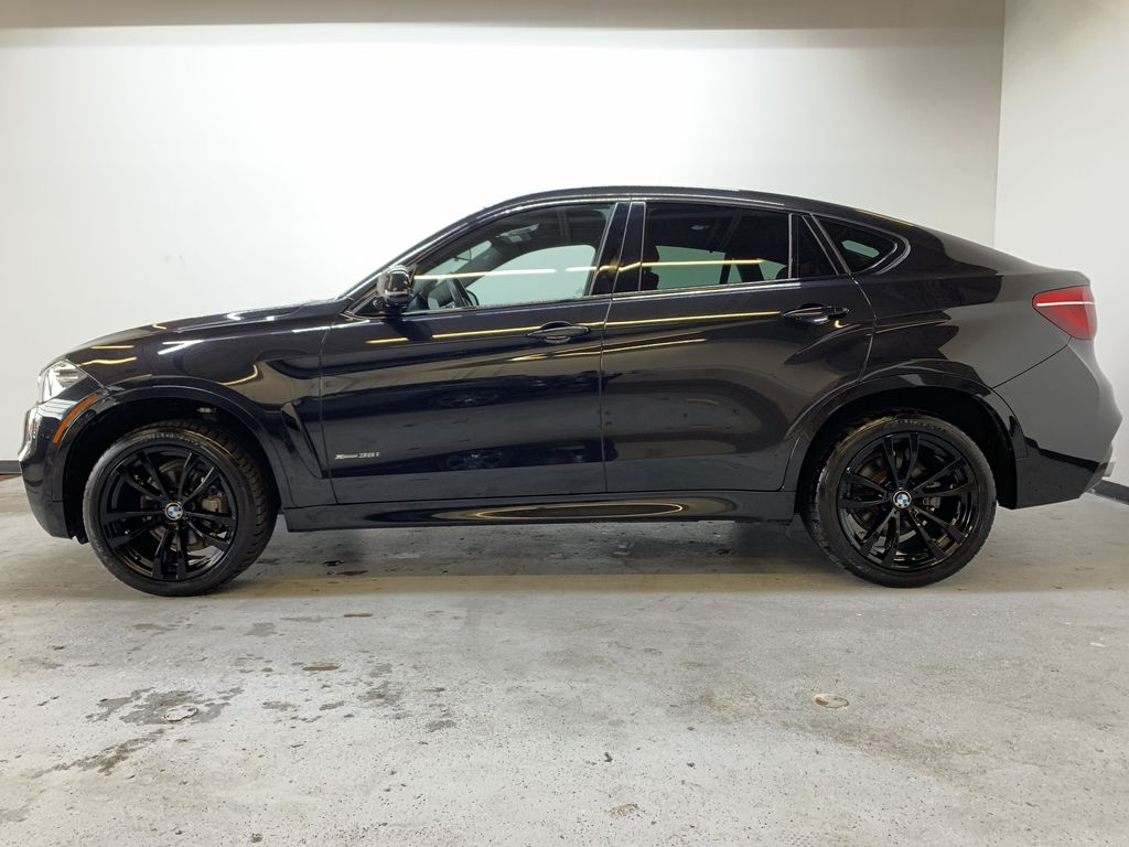 BLACK 2018 BMW X6 xDrive35i Sports Activity Coupe -  NAV, Red Leather, Memory Seat Left Side Photo in Edmonton AB