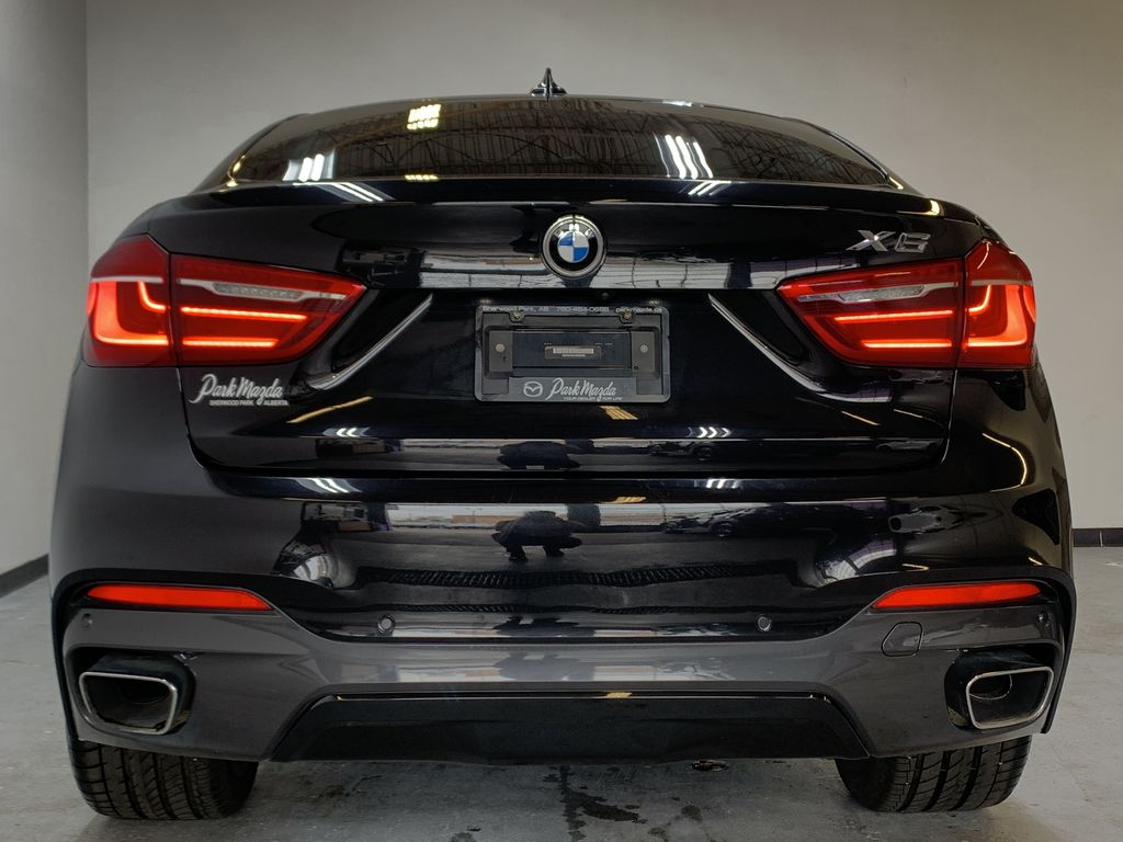 BLACK 2018 BMW X6 xDrive35i Sports Activity Coupe -  NAV, Red Leather, Memory Seat Rear of Vehicle Photo in Edmonton AB