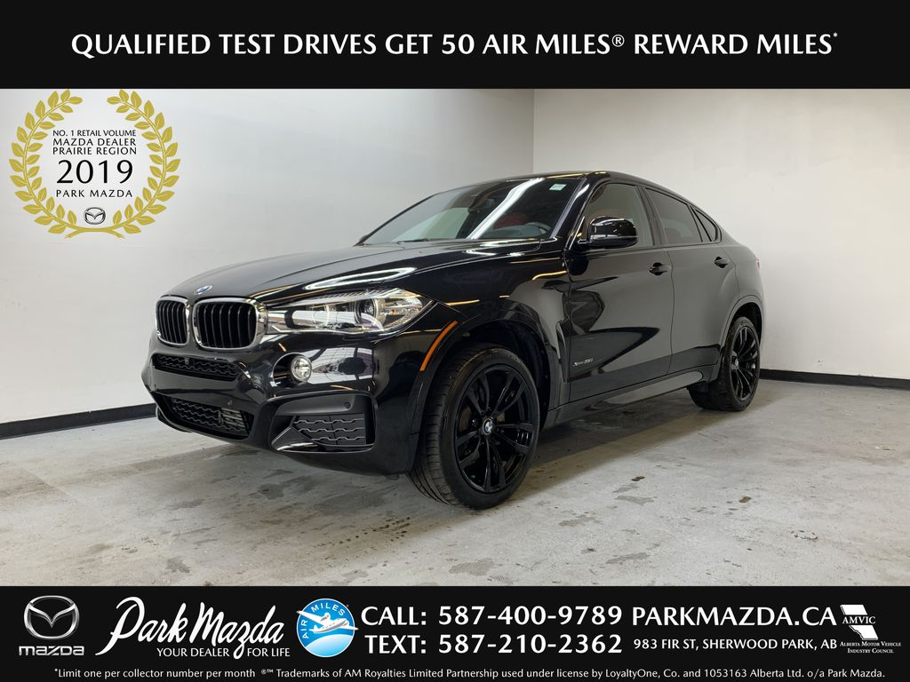 BLACK 2018 BMW X6 xDrive35i Sports Activity Coupe -  NAV, Red Leather, Memory Seat