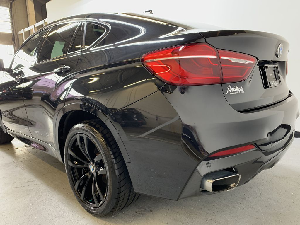 BLACK 2018 BMW X6 xDrive35i Sports Activity Coupe -  NAV, Red Leather, Memory Seat Left Rear Corner Photo in Edmonton AB