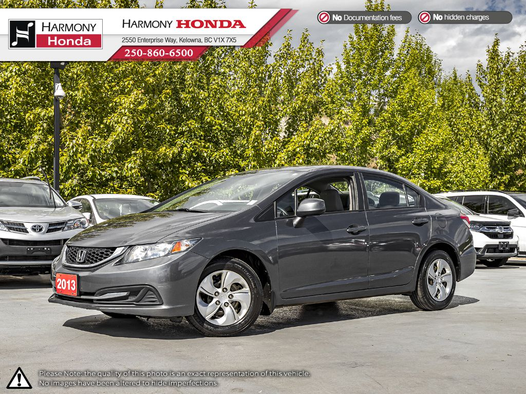 Pre-Owned 2013 Honda Civic Sedan LX - BC VEHICLE - NO ACCIDENTS - ONE OWNER - NON SMOKER - BLUETOOTH - 2ND SET OF TIRES