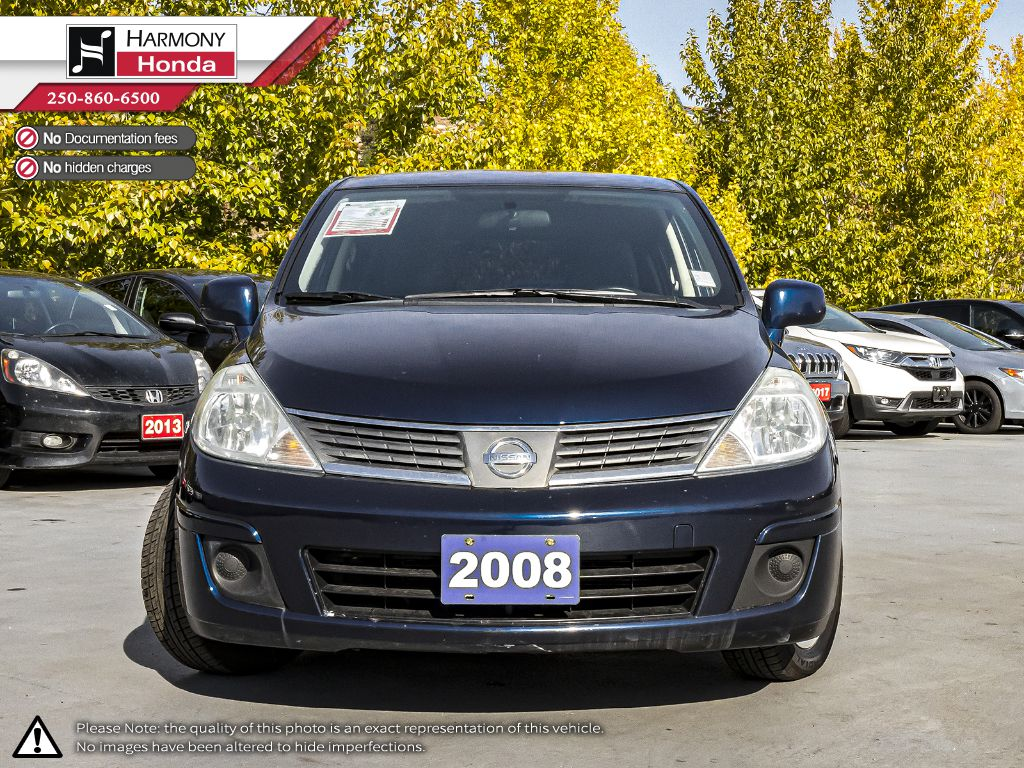 Blue - Blueberry Metallic 2008 Nissan Versa Left Front Interior Photo in Kelowna BC