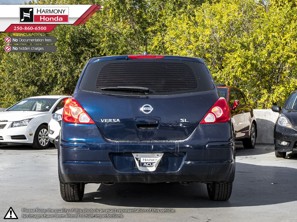 Blue - Blueberry Metallic 2008 Nissan Versa Left Side Photo in Kelowna BC