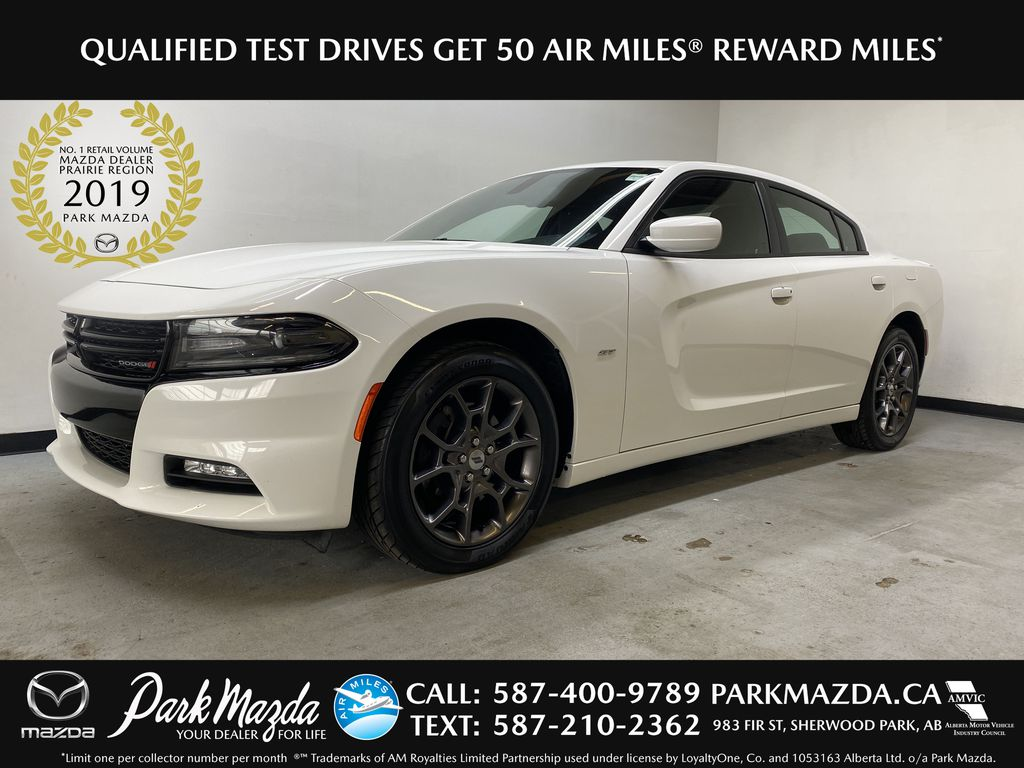 WHITE 2018 Dodge Charger GT AWD - NAV, Backup Camera, Heated/Cooled Front Seats