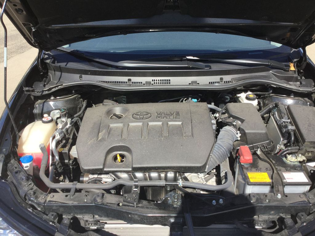 Black[Black Sand Pearl] 2018 Toyota Corolla iM Engine Compartment Photo in Brockville ON