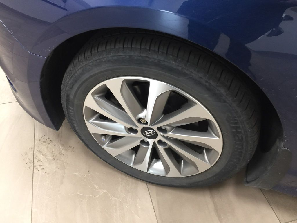 Blue[Coast Blue Pearl] 2016 Hyundai Sonata Sport Tech Left Front Rim and Tire Photo in Sherwood Park AB