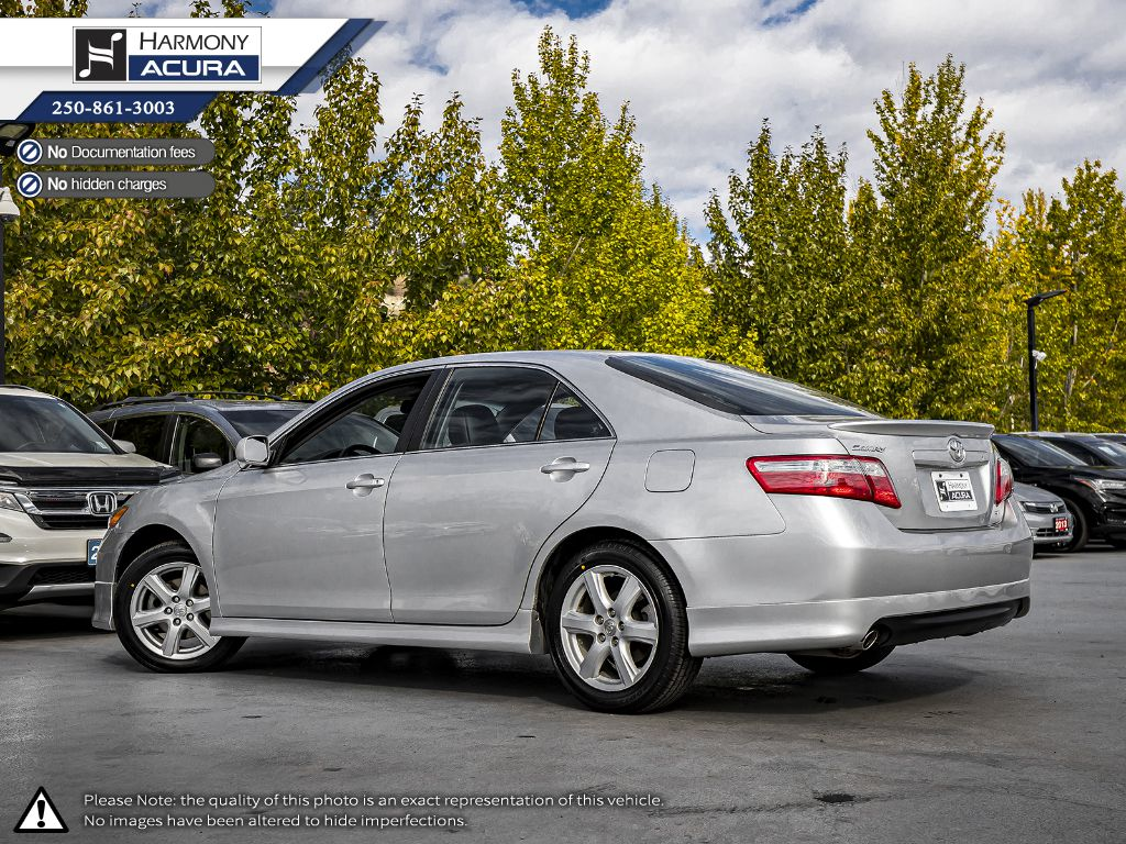 Silver - Classic Silver Metallic 2009 Toyota Camry Left Side Rear Seat  Photo in Kelowna BC