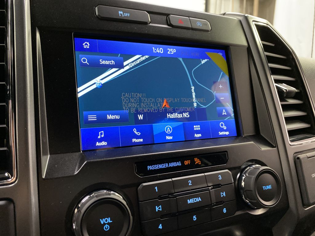 Blue[Velocity Blue] 2020 Ford F-150 Navigation Screen Closeup Photo in Dartmouth NS