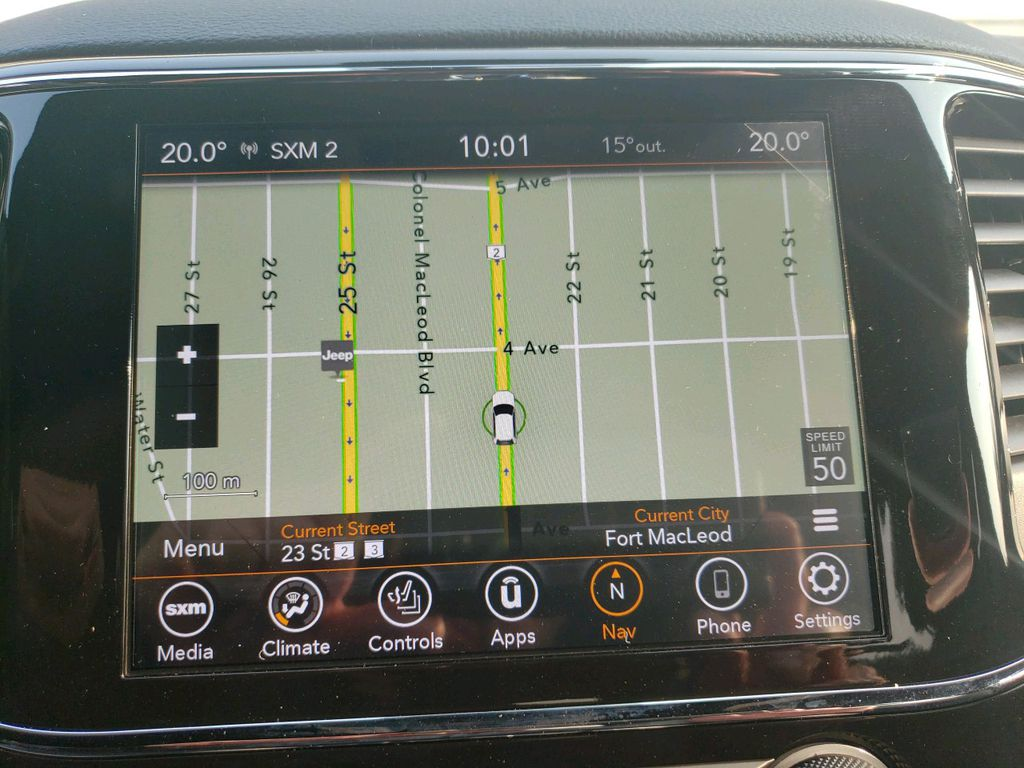 Silver 2020 Jeep Grand Cherokee Central Dash Options Photo in Fort Macleod AB