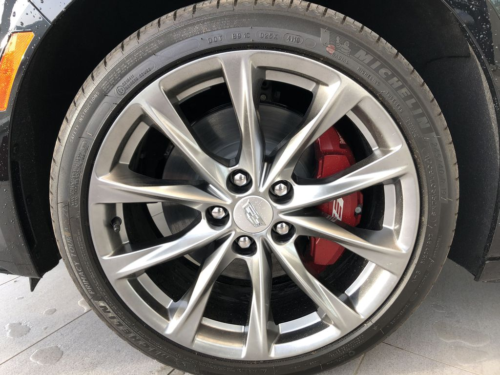 Black[Black Raven] 2020 Cadillac CT5 Left Front Rim and Tire Photo in Edmonton AB