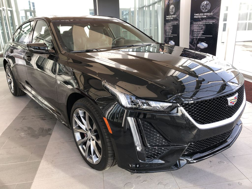 Black[Black Raven] 2020 Cadillac CT5 Right Front Corner Photo in Edmonton AB