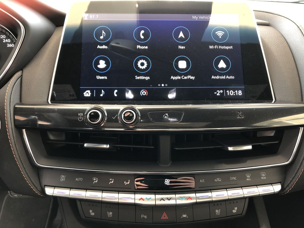 Black[Black Raven] 2020 Cadillac CT5 Central Dash Options Photo in Edmonton AB