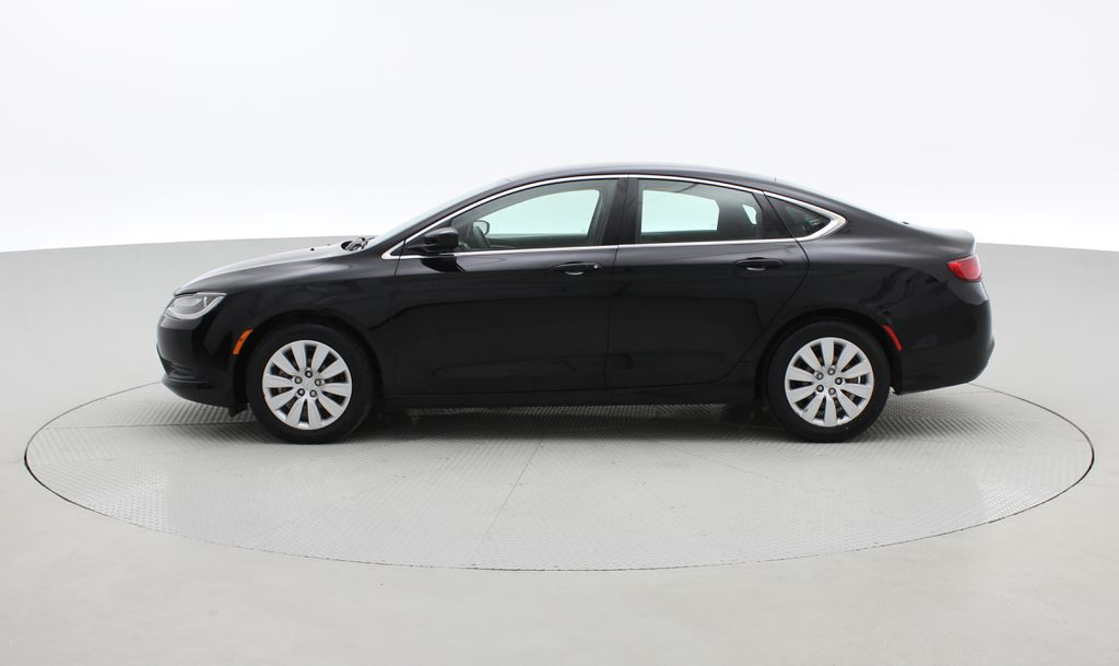 Black[Gloss Black] 2015 Chrysler 200 LX - 9−Speed Automatic Transmission, Cruise Control Left Side Photo in Winnipeg MB
