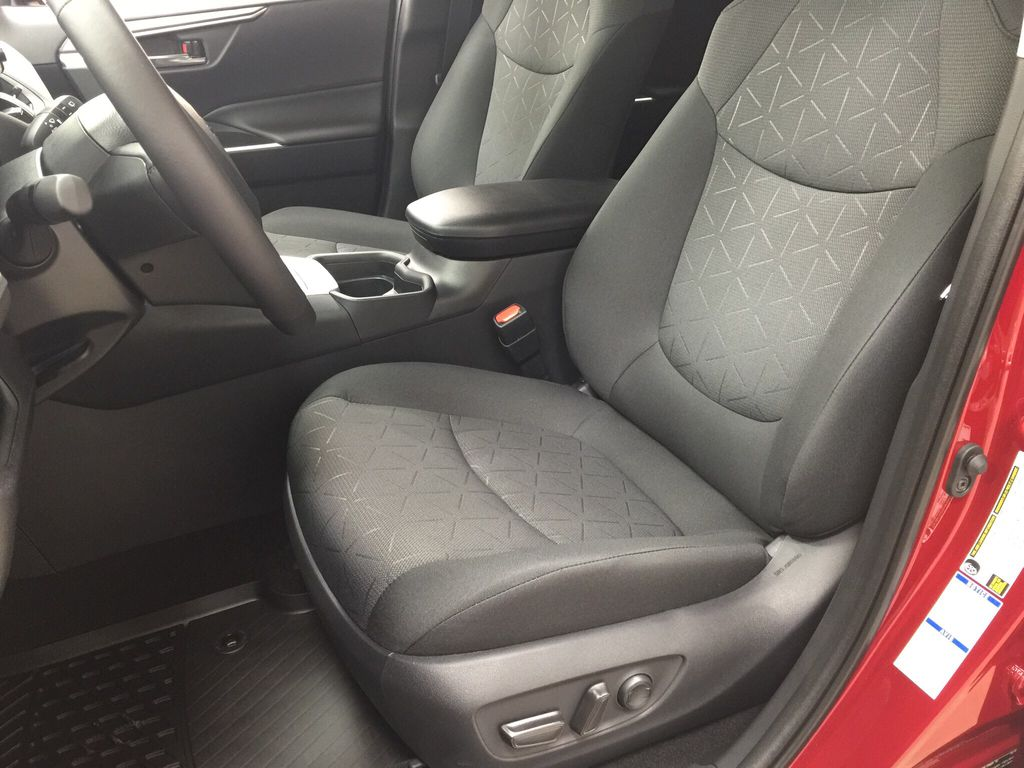 Red[Ruby Flare Pearl] 2020 Toyota RAV4 XLE Hybrid Left Front Interior Photo in Sherwood Park AB