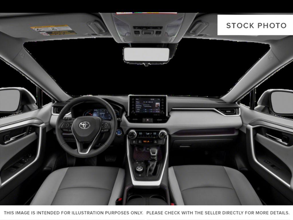 White[Blizzard Pearl] 2020 Toyota RAV4 Hybrid Limited Front Seats and Dash Photo in Edmonton AB