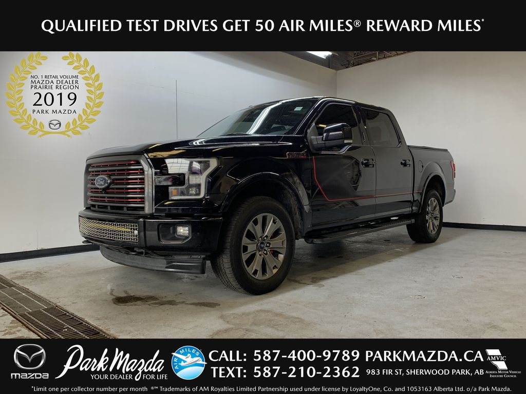 BLACK 2017 Ford F-150 Lariat - Bluetooth, Panoramic Roof, NAV