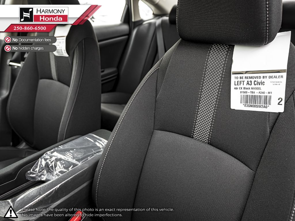 BLACK NH-731P 2020 Honda Civic Sedan Rear Seat Photo in Kelowna BC