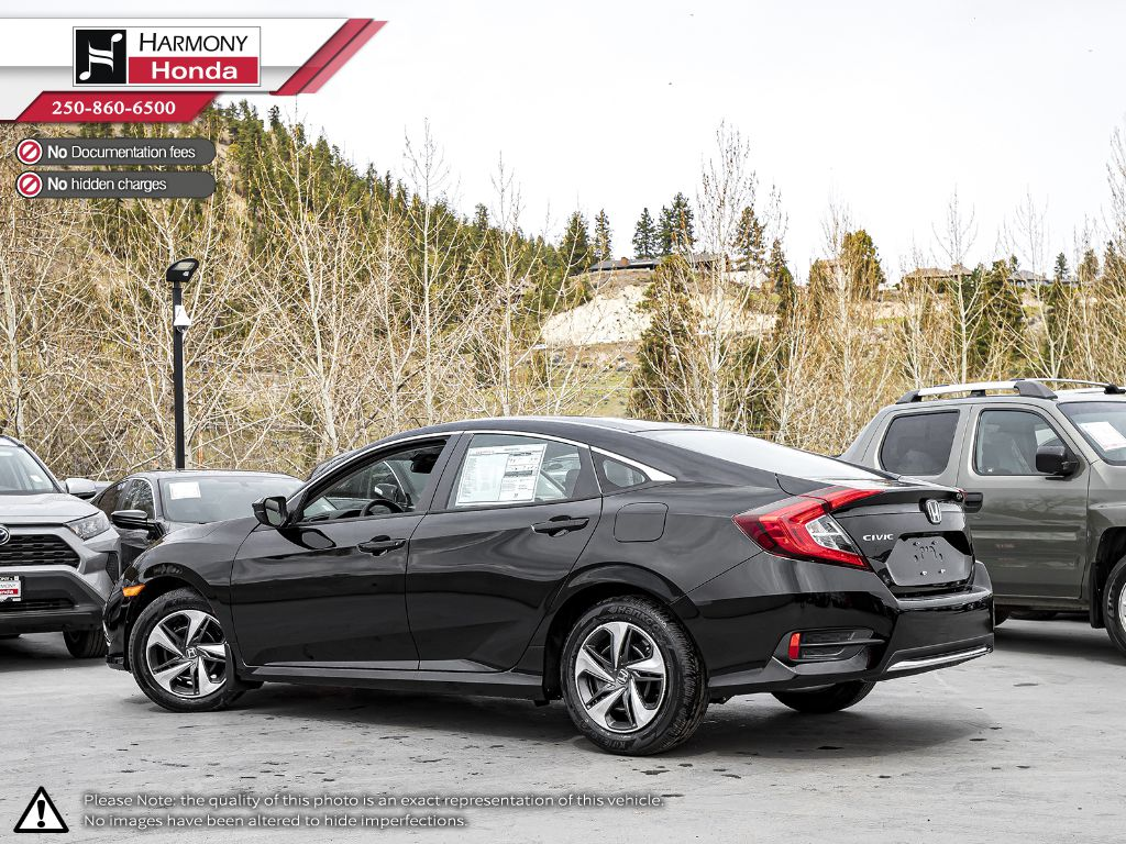 BLACK NH-731P 2020 Honda Civic Sedan Left Side Photo in Kelowna BC