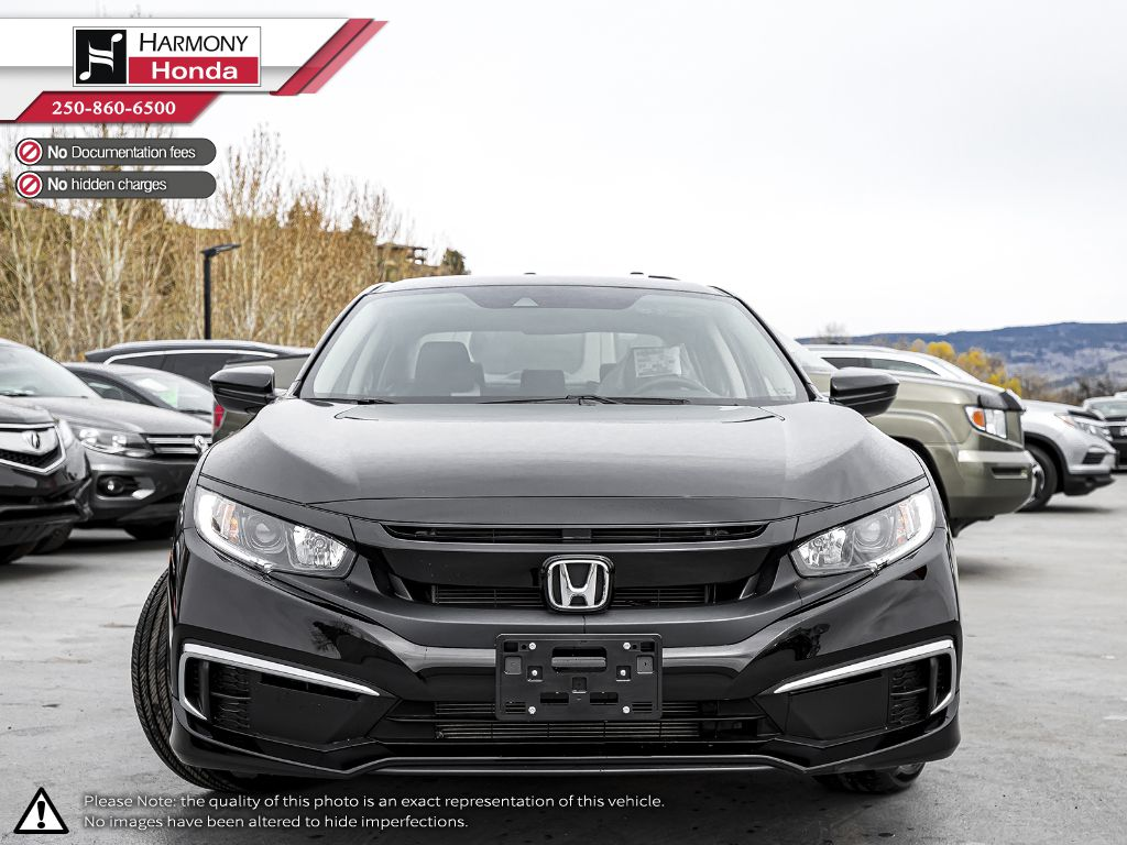 BLACK NH-731P 2020 Honda Civic Sedan Left Front Interior Photo in Kelowna BC