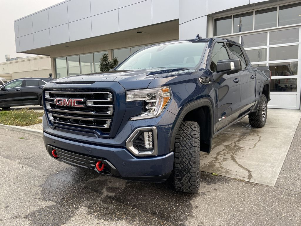 Blue[Pacific Blue Metallic] 2020 GMC Sierra 1500 AT4 Left Front Head Light / Bumper and Grill in Calgary AB