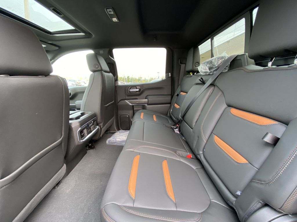 Blue[Pacific Blue Metallic] 2020 GMC Sierra 1500 AT4 Left Side Rear Seat  Photo in Calgary AB