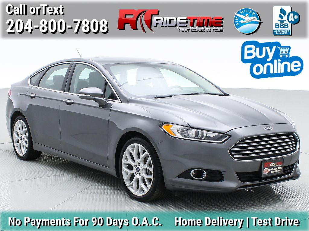 Gray[Sterling Grey] 2013 Ford Fusion Titanium AWD - Leather, Navigation, Sunroof