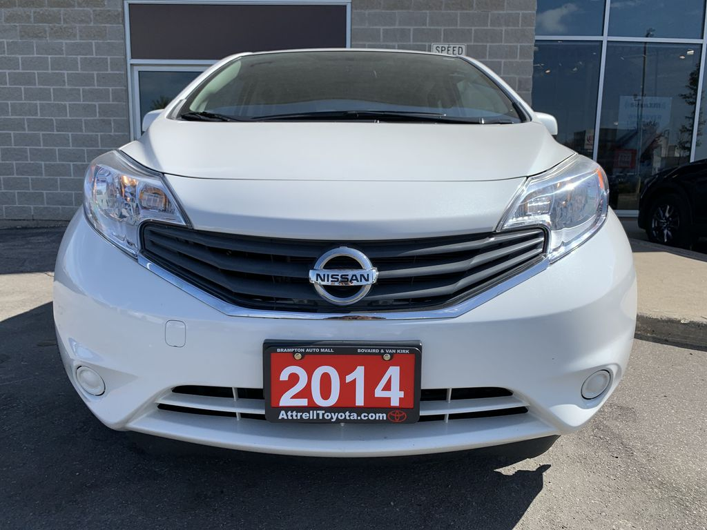 White[Aspen White Pearl] 2014 Nissan Versa Note Left Side Photo in Brampton ON