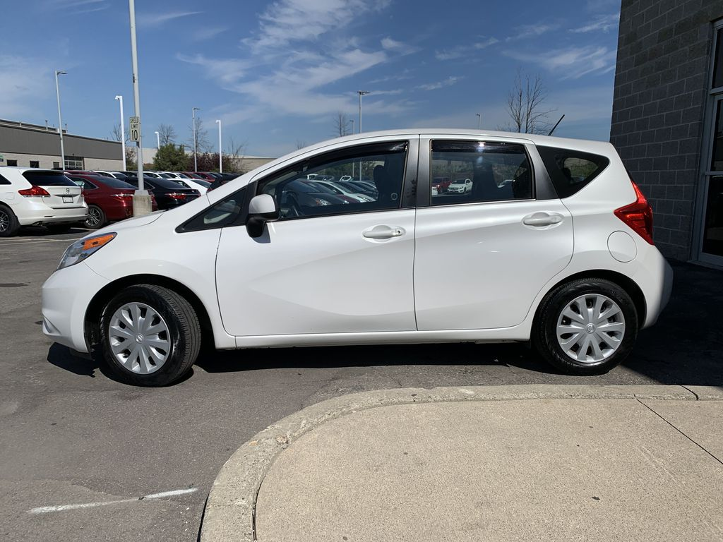 White[Aspen White Pearl] 2014 Nissan Versa Note Left Front Rim and Tire Photo in Brampton ON