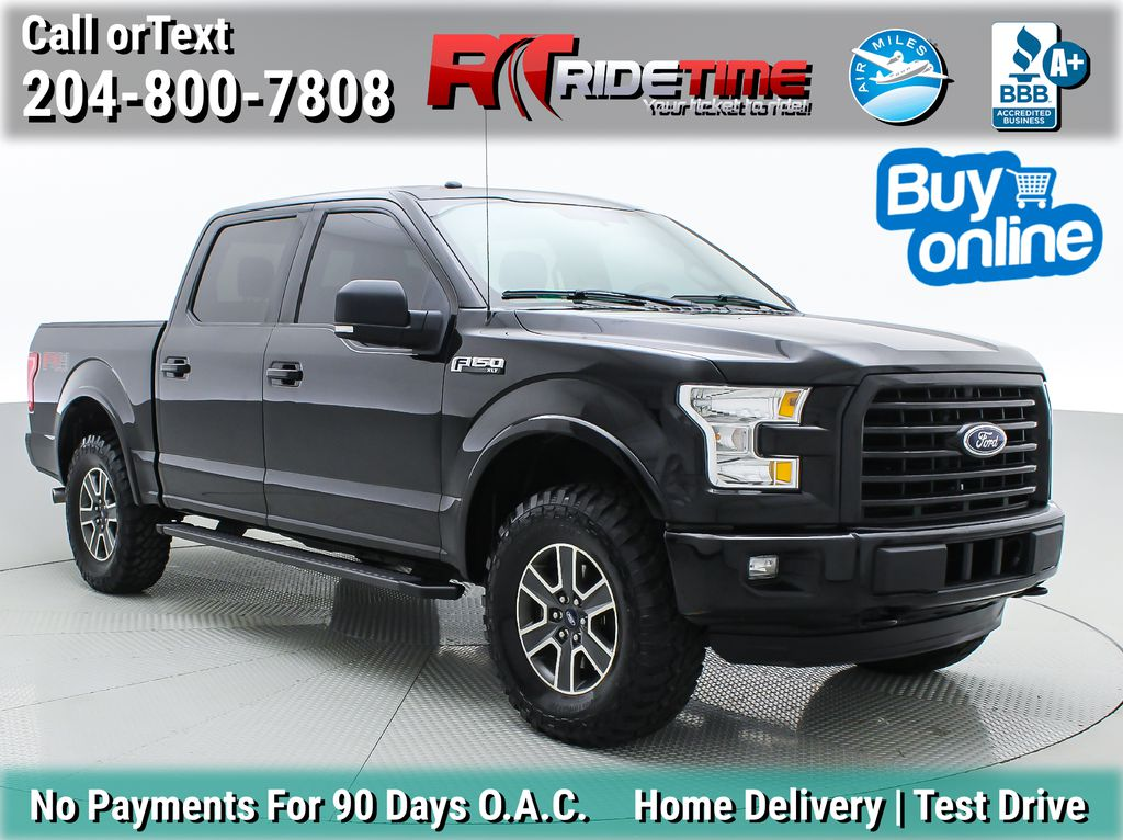 Black[Shadow Black] 2016 Ford F-150 XLT 4WD - SuperCrew, 5.0L V8, Sport and FX4 Package