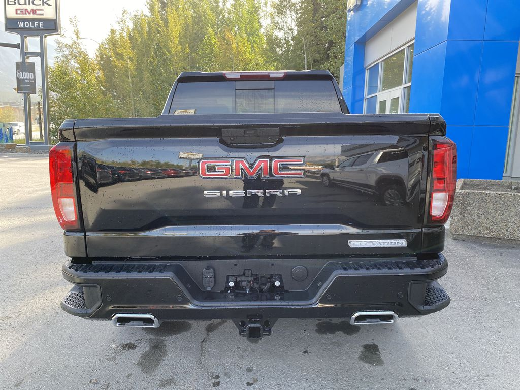 Black[Carbon Black Metallic] 2020 GMC Sierra 1500 Elevation Rear of Vehicle Photo in Canmore AB