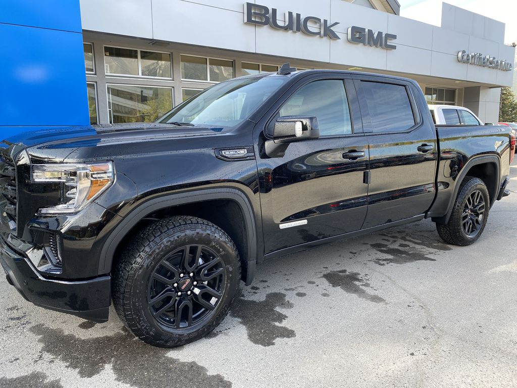 Black[Carbon Black Metallic] 2020 GMC Sierra 1500 Elevation Front Vehicle Photo in Canmore AB