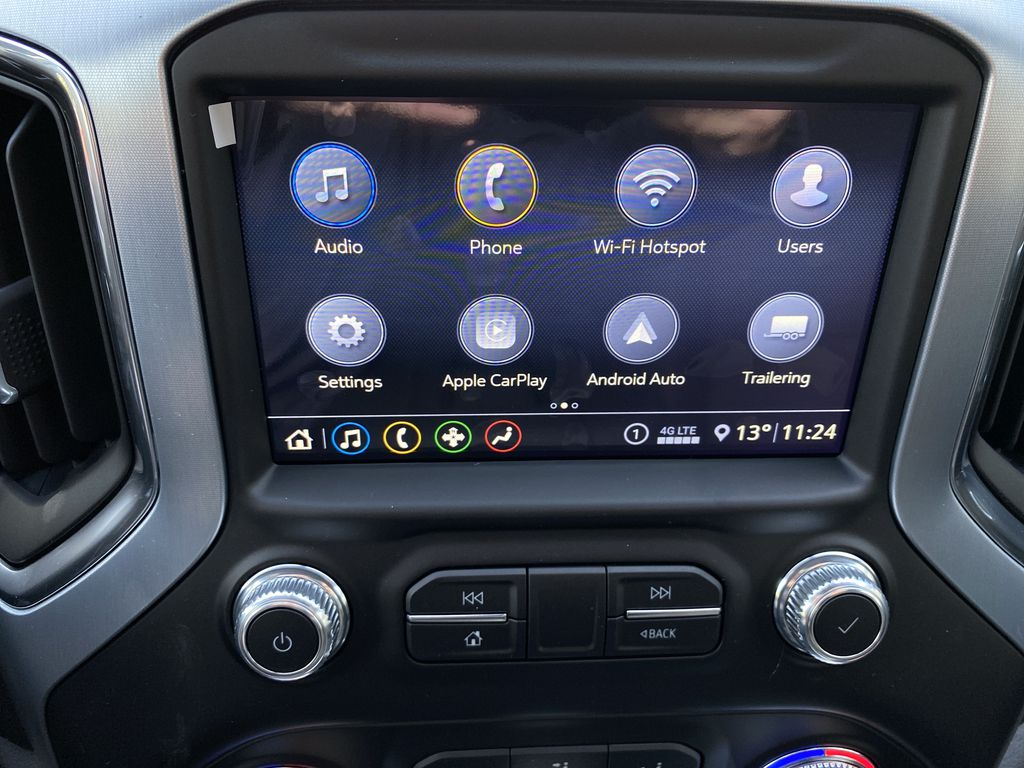 Black[Carbon Black Metallic] 2020 GMC Sierra 1500 Elevation Navigation Screen Closeup Photo in Canmore AB