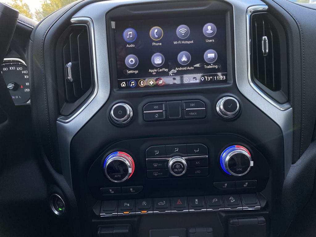 Black[Carbon Black Metallic] 2020 GMC Sierra 1500 Elevation Radio Controls Closeup Photo in Canmore AB
