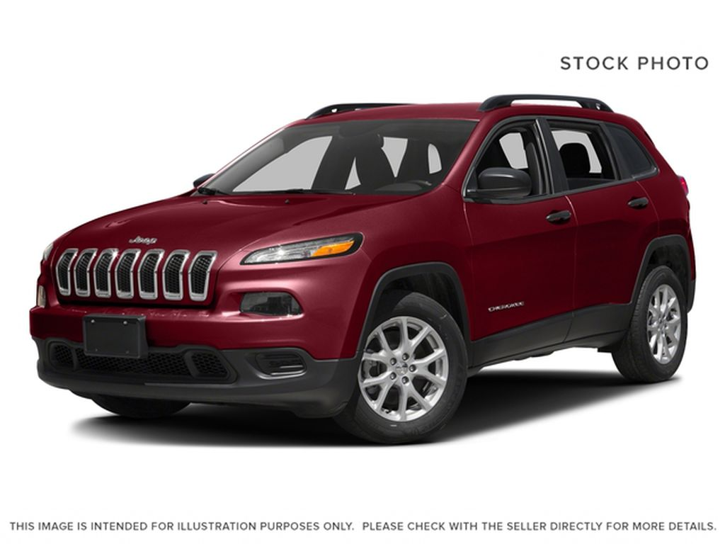 Red[Deep Cherry Red Crystal Pearl] 2017 Jeep Cherokee