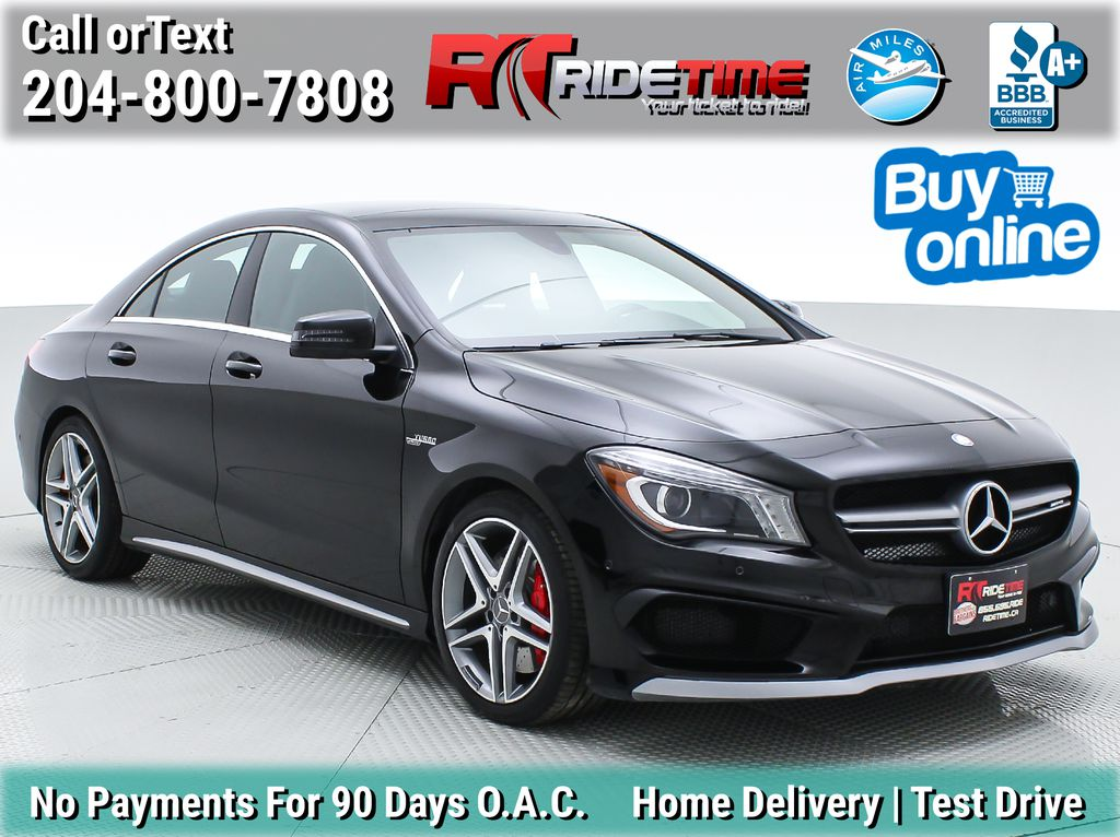 Black[Cosmos Black Metallic] 2016 Mercedes-Benz CLA 45 AMG® 4MATIC® - Leather, Pano Roof, NAV