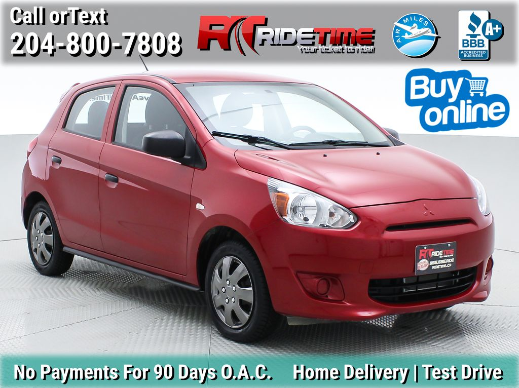 Red[Infrared] 2015 Mitsubishi Mirage ES - Automatic, Factory Warranty, Cheap Used Car
