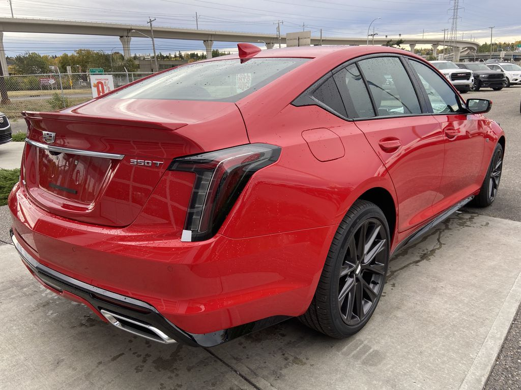 Red[Velocity Red] 2020 Cadillac CT5 Sport Right Rear Corner Photo in Calgary AB