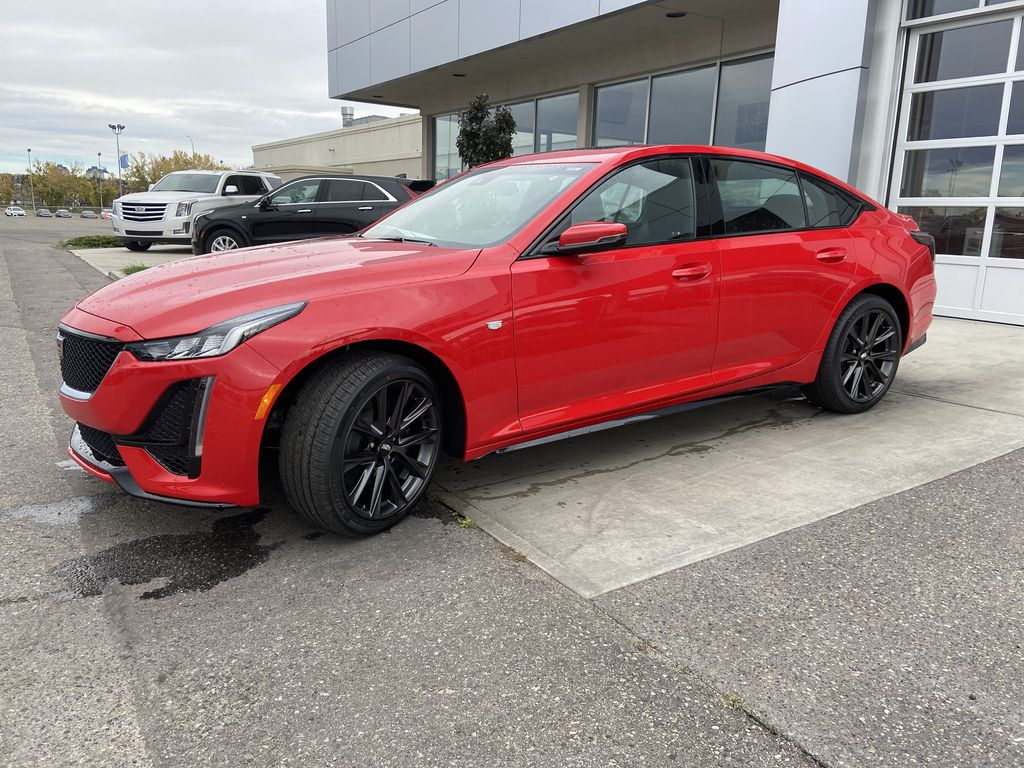 Red[Velocity Red] 2020 Cadillac CT5 Sport Left Front Corner Photo in Calgary AB