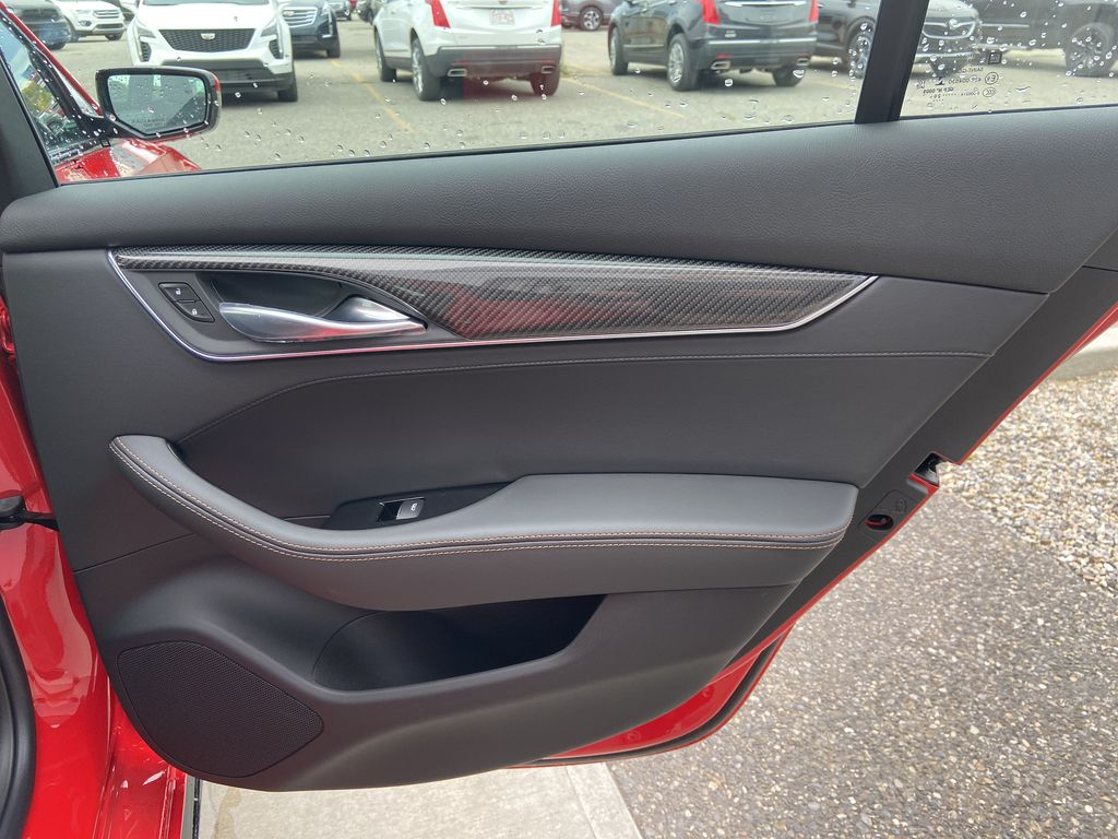 Red[Velocity Red] 2020 Cadillac CT5 Sport Right Rear Interior Door Panel Photo in Calgary AB