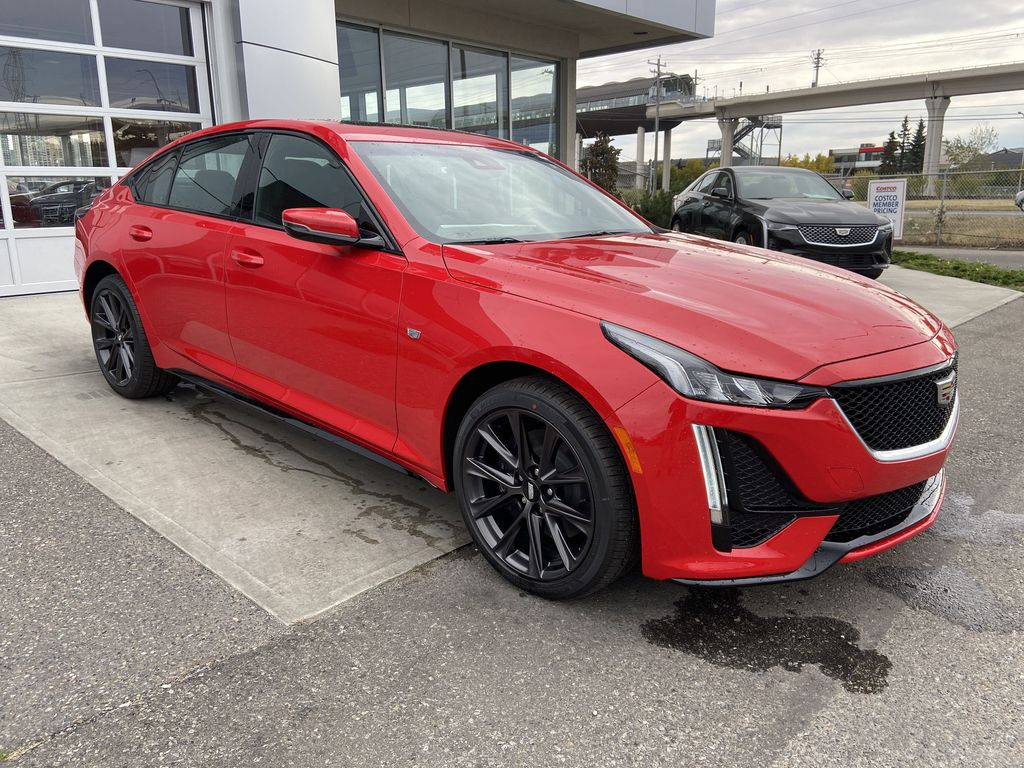 Red[Velocity Red] 2020 Cadillac CT5 Sport Right Front Corner Photo in Calgary AB