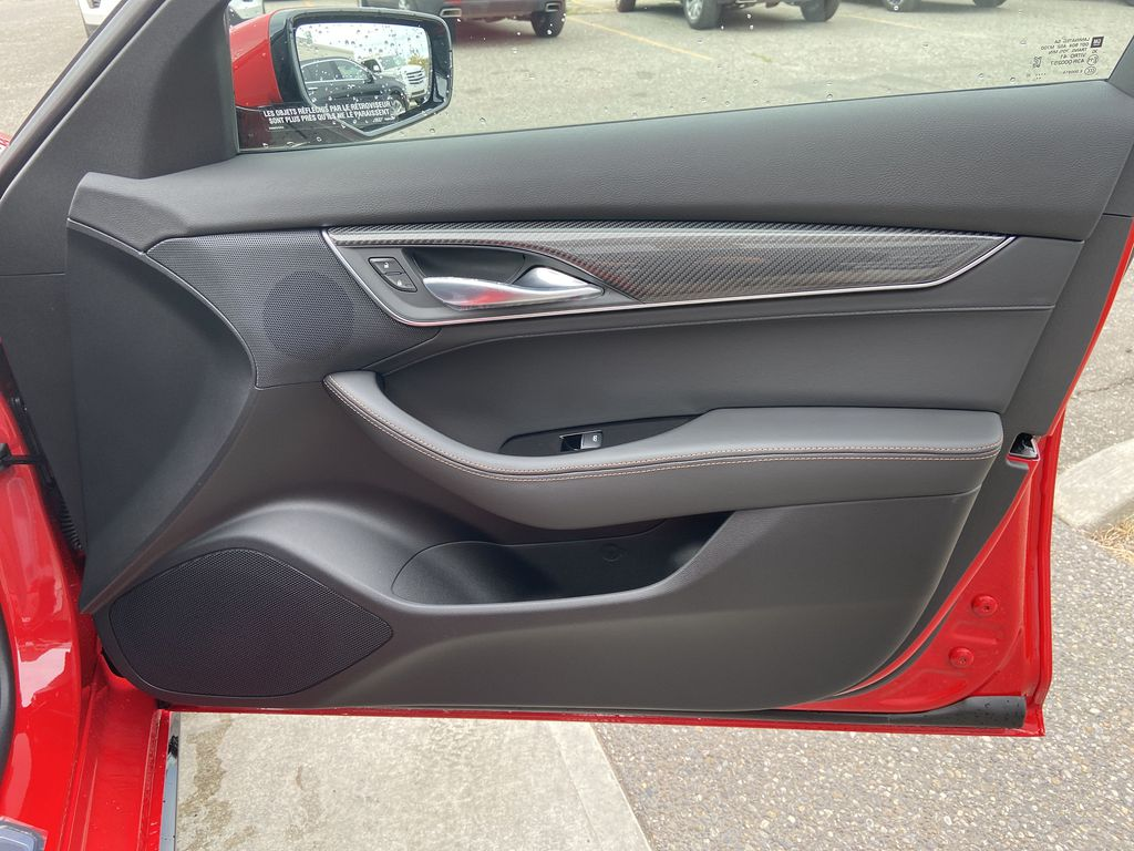 Red[Velocity Red] 2020 Cadillac CT5 Sport Right Front Interior Door Panel Photo in Calgary AB