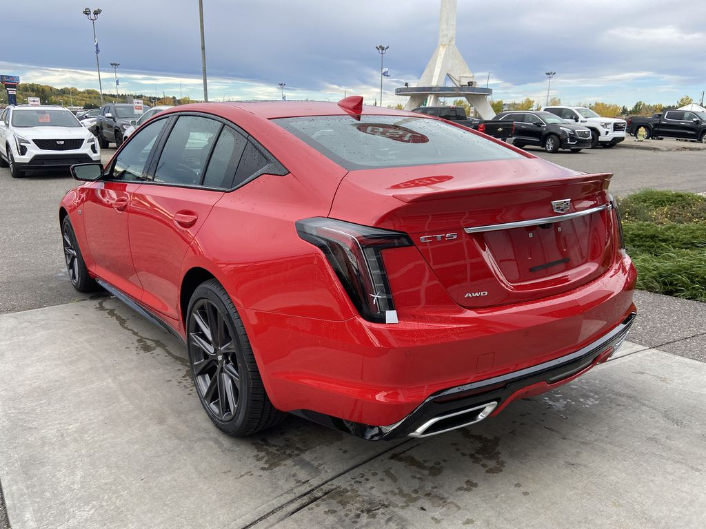 Red[Velocity Red] 2020 Cadillac CT5 Sport Left Rear Corner Photo in Calgary AB