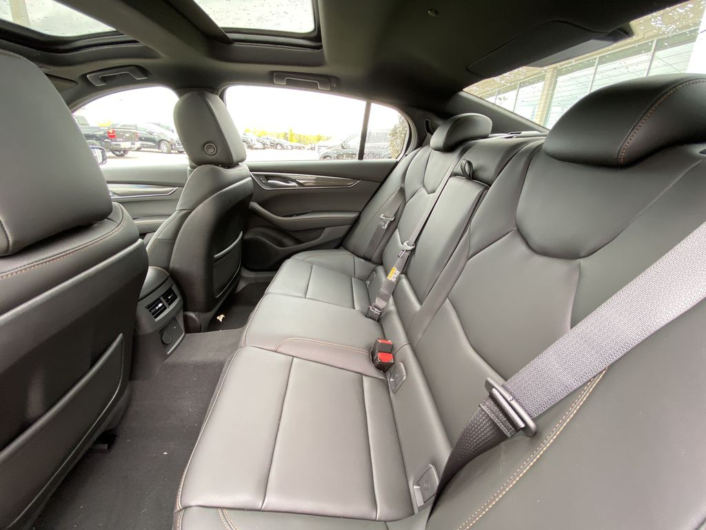 Red[Velocity Red] 2020 Cadillac CT5 Sport Left Side Rear Seat  Photo in Calgary AB