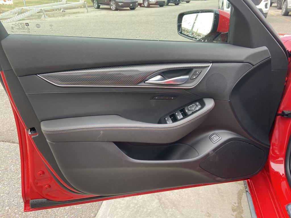 Red[Velocity Red] 2020 Cadillac CT5 Sport Left Front Interior Door Panel Photo in Calgary AB