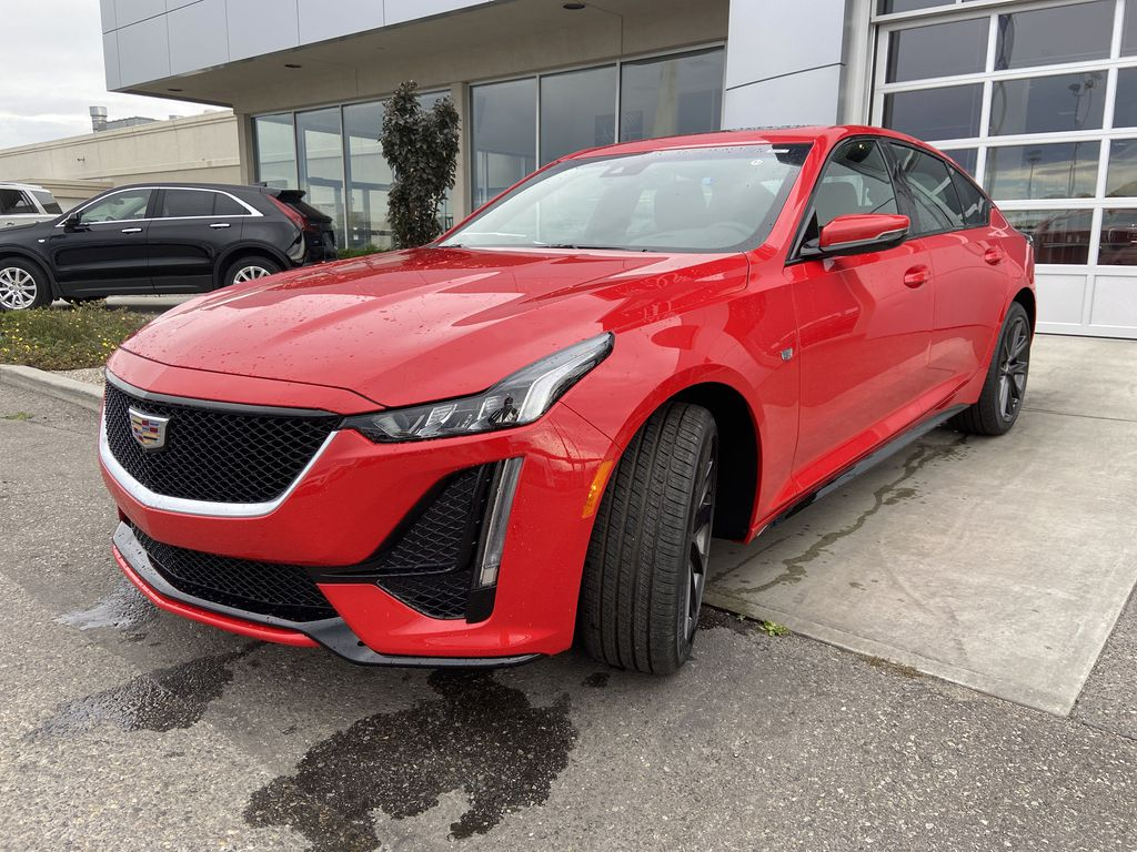 Red[Velocity Red] 2020 Cadillac CT5 Sport Left Front Head Light / Bumper and Grill in Calgary AB