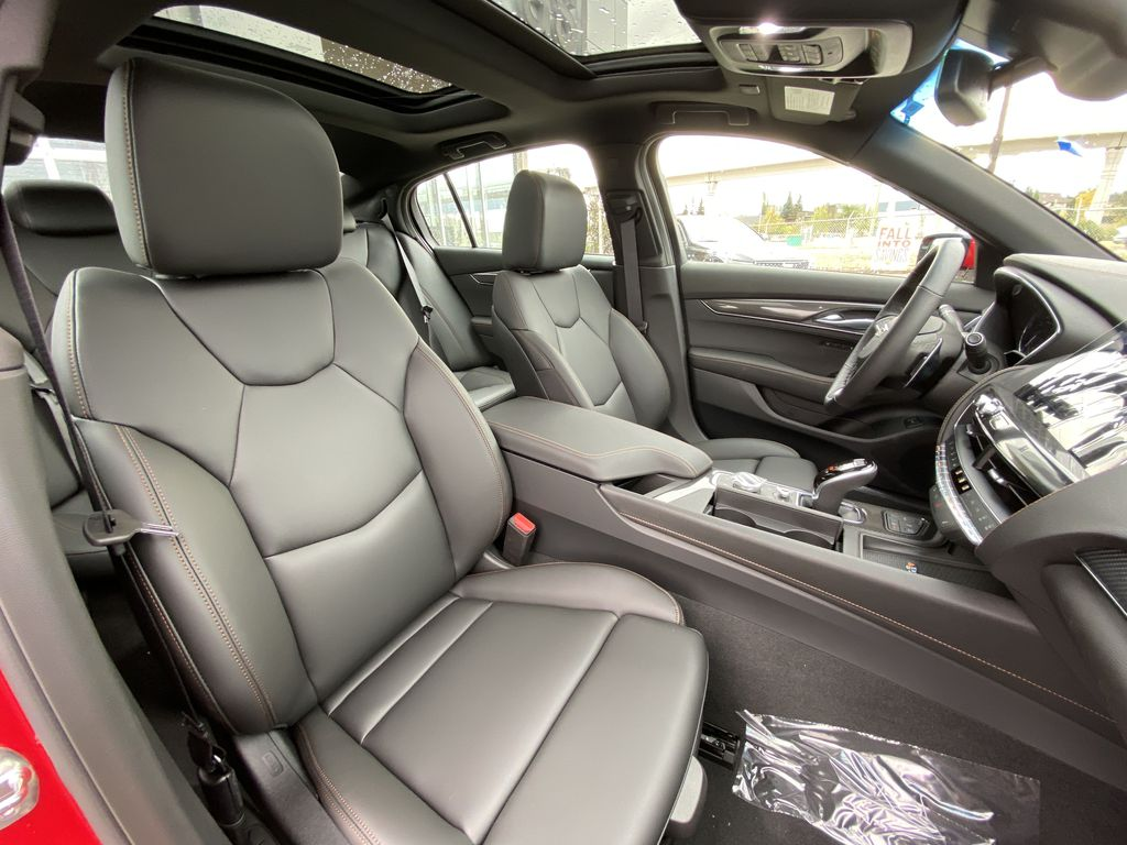 Red[Velocity Red] 2020 Cadillac CT5 Sport Right Side Front Seat  Photo in Calgary AB