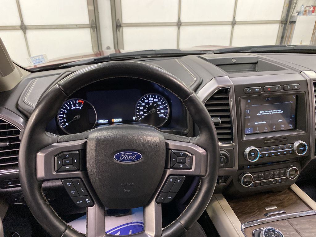 Red[Ruby Red Metallic Tinted Clearcoat] 2018 Ford Expedition Steering Wheel and Dash Photo in Dartmouth NS