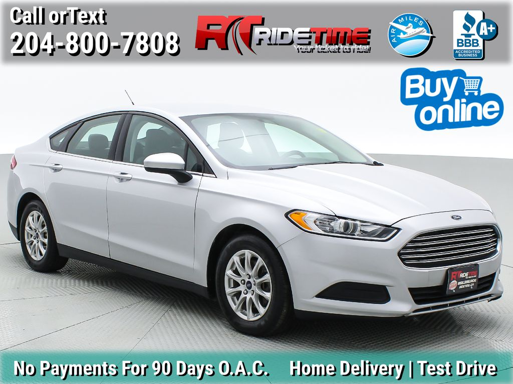 Silver[Ingot Silver Metallic] 2016 Ford Fusion S - Automatic, Bluetooth, ALL CREDIT APPROVED