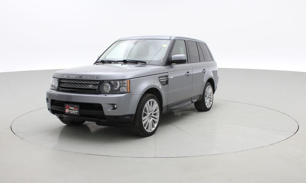 Gray[Orkney Grey Metallic] 2012 Land Rover Range Rover HSE LUX 4WD - Navigation, Almond Leather Left Front Corner Photo in Winnipeg MB